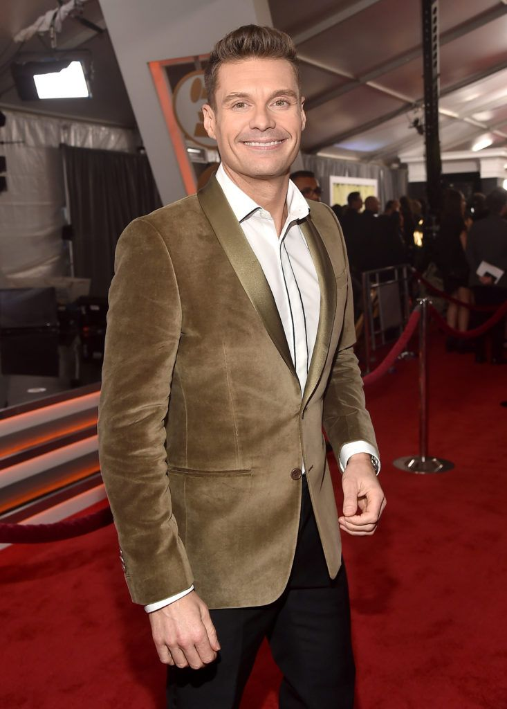 LOS ANGELES, CA - FEBRUARY 12:  Media Personality Ryan Seacrest attends The 59th GRAMMY Awards at STAPLES Center on February 12, 2017 in Los Angeles, California.  (Photo by Alberto E. Rodriguez/Getty Images for NARAS)
