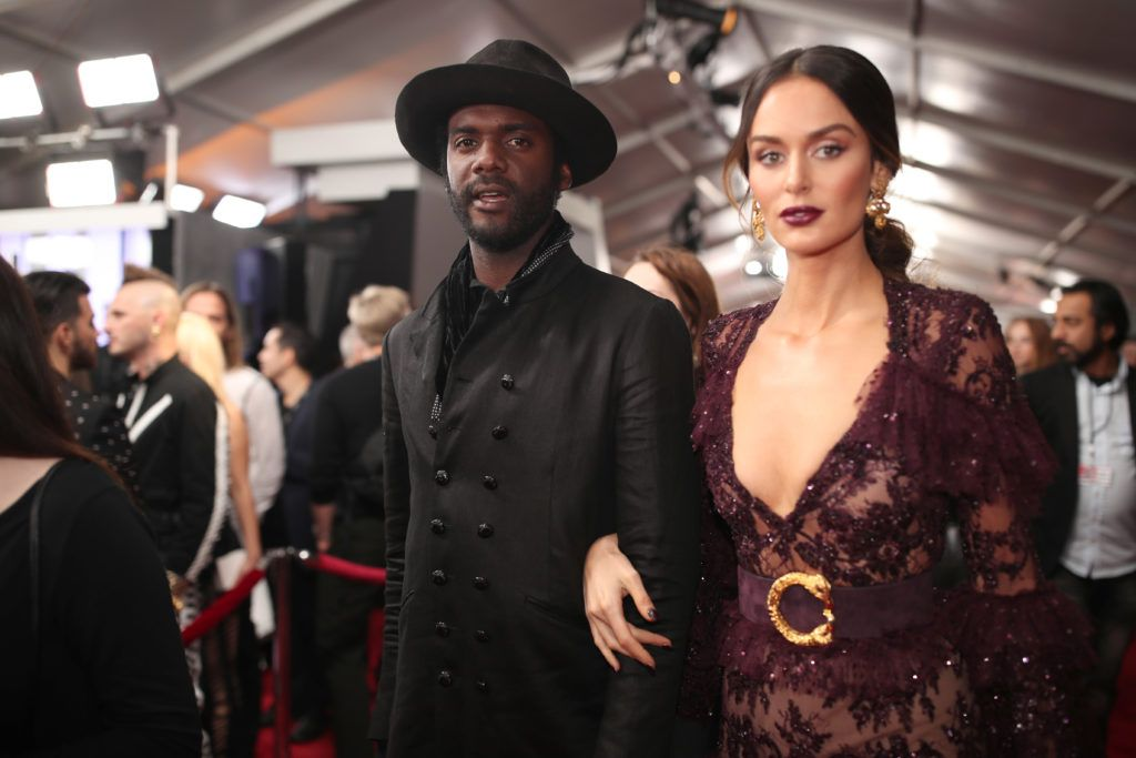 LOS ANGELES, CA - FEBRUARY 12: Musician Gary Clark Jr and model Nicole Trunfio attend The 59th GRAMMY Awards at STAPLES Center on February 12, 2017 in Los Angeles, California.  (Photo by Christopher Polk/Getty Images for NARAS)