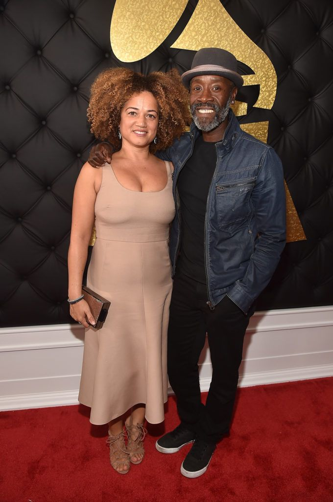 LOS ANGELES, CA - FEBRUARY 12:  Actors Bridgid Coulter and Don Cheadle attend The 59th GRAMMY Awards at STAPLES Center on February 12, 2017 in Los Angeles, California.  (Photo by Alberto E. Rodriguez/Getty Images for NARAS)