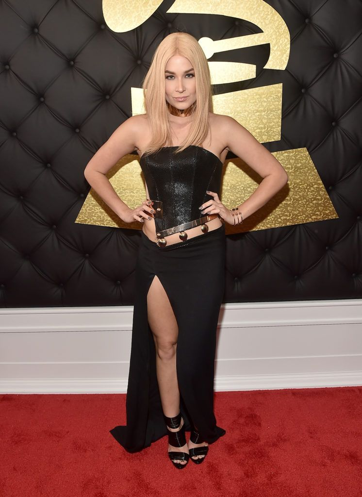 LOS ANGELES, CA - FEBRUARY 12:  Singer Saint Heart attends The 59th GRAMMY Awards at STAPLES Center on February 12, 2017 in Los Angeles, California.  (Photo by Alberto E. Rodriguez/Getty Images for NARAS)