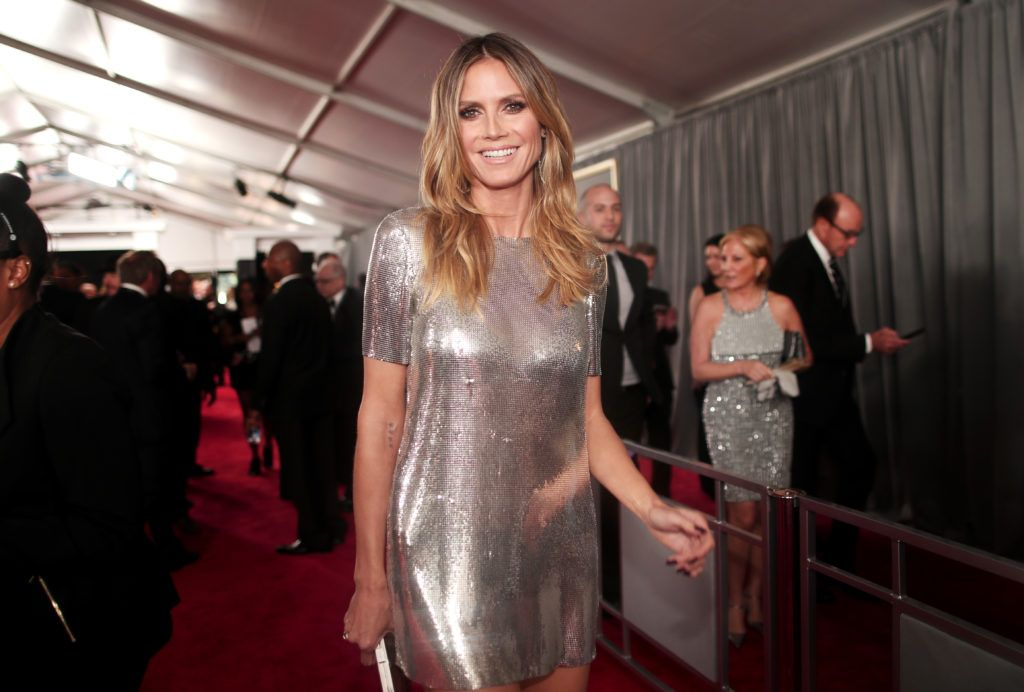 LOS ANGELES, CA - FEBRUARY 12: TV Personality Heidi Klum  attends The 59th GRAMMY Awards at STAPLES Center on February 12, 2017 in Los Angeles, California.  (Photo by Christopher Polk/Getty Images for NARAS)