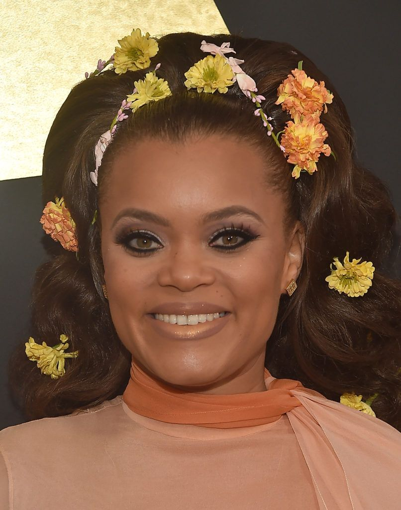 LOS ANGELES, CA - FEBRUARY 12:  Singer Andra Day attends The 59th GRAMMY Awards at STAPLES Center on February 12, 2017 in Los Angeles, California.  (Photo by Alberto E. Rodriguez/Getty Images for NARAS)