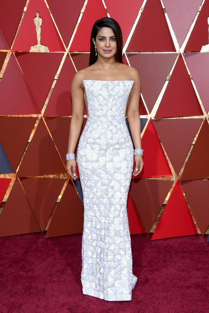 HOLLYWOOD, CA - FEBRUARY 26:  Actor Priyanka Chopra attends the 89th Annual Academy Awards at Hollywood & Highland Center on February 26, 2017 in Hollywood, California.  (Photo by Kevork Djansezian/Getty Images)
