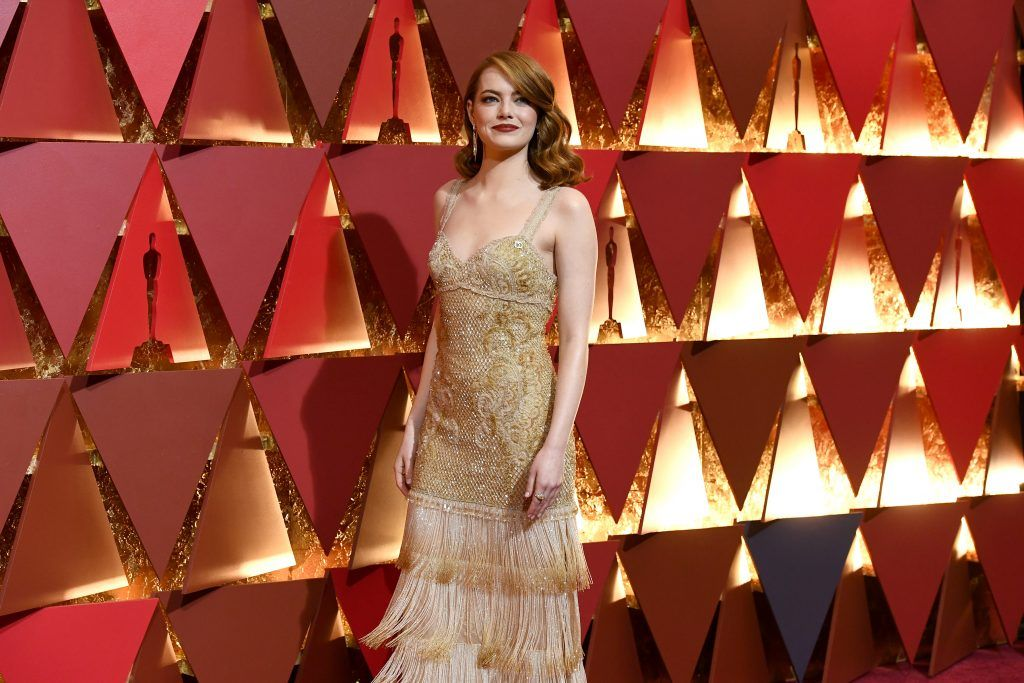 HOLLYWOOD, CA - FEBRUARY 26:  Actor Emma Stone attends the 89th Annual Academy Awards at Hollywood & Highland Center on February 26, 2017 in Hollywood, California.  (Photo by Kevork Djansezian/Getty Images)