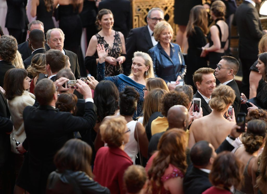 HOLLYWOOD, CA - FEBRUARY 26:  Actress Meryl Streep (C) attends the 89th Annual Academy Awards at Hollywood & Highland Center on February 26, 2017 in Hollywood, California.  (Photo by Matt Winkelmeyer/Getty Images)
