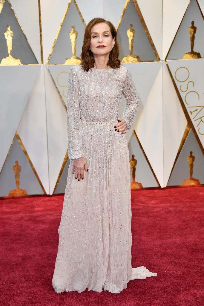 HOLLYWOOD, CA - FEBRUARY 26:  Actor Isabelle Huppert attends the 89th Annual Academy Awards at Hollywood & Highland Center on February 26, 2017 in Hollywood, California.  (Photo by Frazer Harrison/Getty Images)
