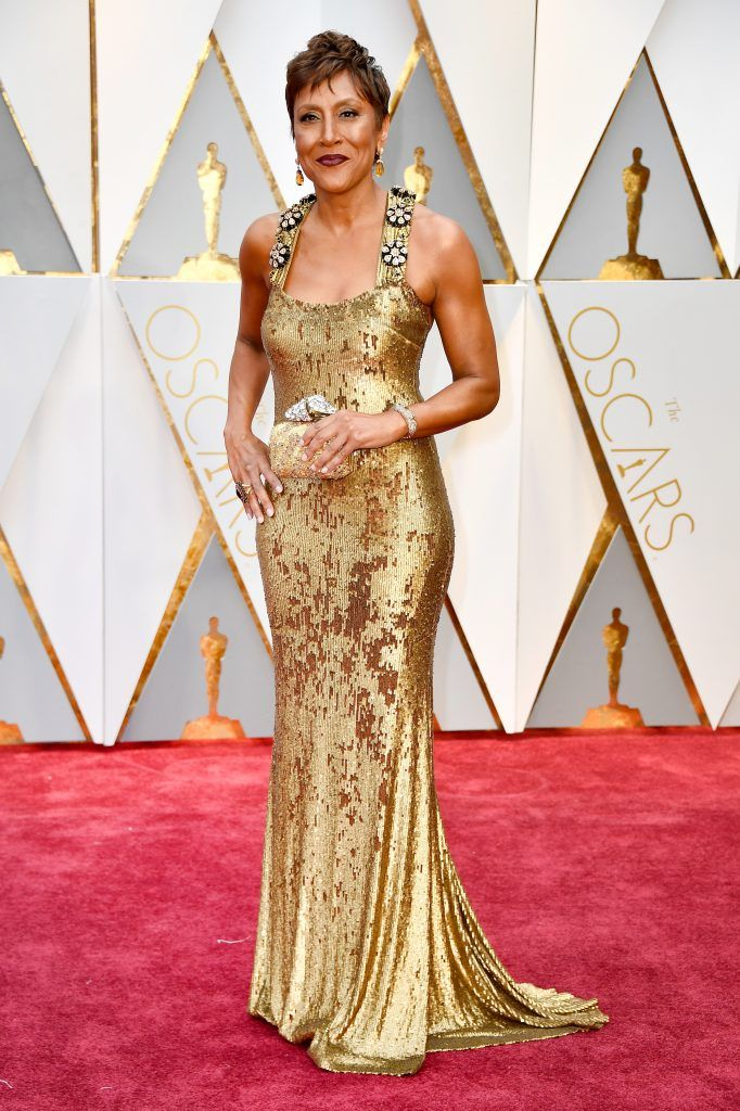 HOLLYWOOD, CA - FEBRUARY 26:  TV personality Robin Roberts attends the 89th Annual Academy Awards at Hollywood & Highland Center on February 26, 2017 in Hollywood, California.  (Photo by Frazer Harrison/Getty Images)
