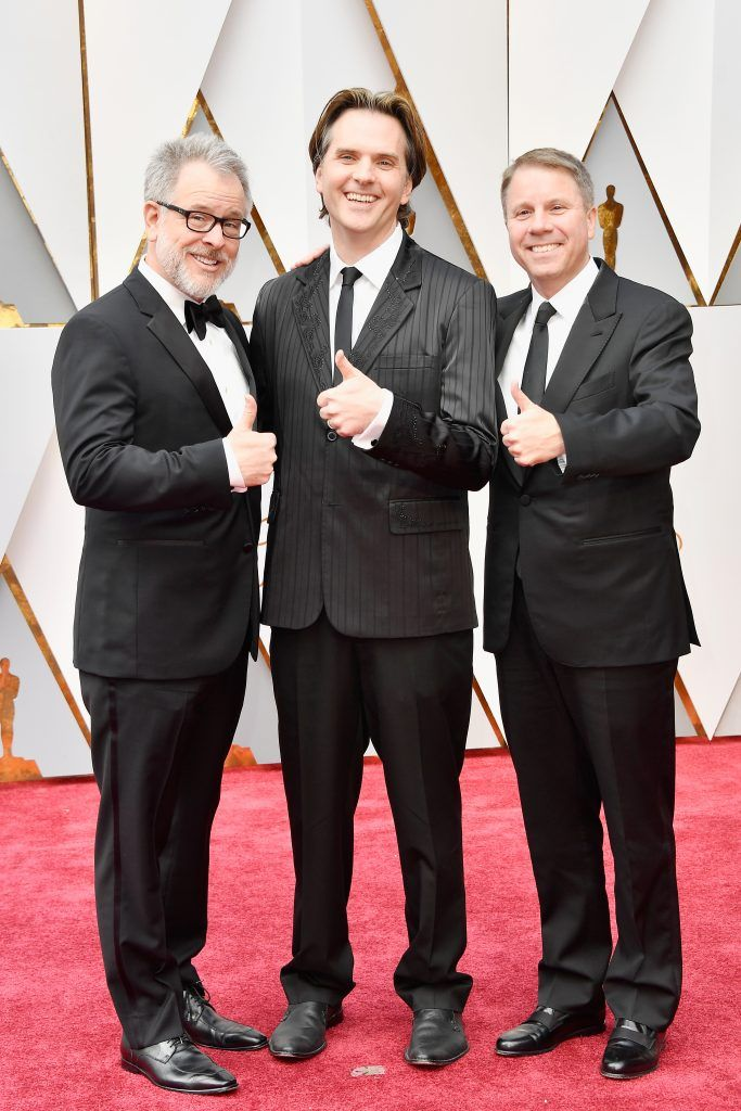 HOLLYWOOD, CA - FEBRUARY 26:  (L-R) Directors Rich Moore, Byron Howard and Jared Bush attend the 89th Annual Academy Awards at Hollywood & Highland Center on February 26, 2017 in Hollywood, California.  (Photo by Frazer Harrison/Getty Images)