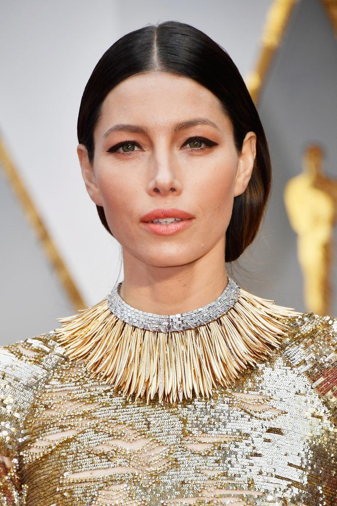 HOLLYWOOD, CA - FEBRUARY 26:  Actor Jessica Biel attends the 89th Annual Academy Awards at Hollywood & Highland Center on February 26, 2017 in Hollywood, California.  (Photo by Frazer Harrison/Getty Images)