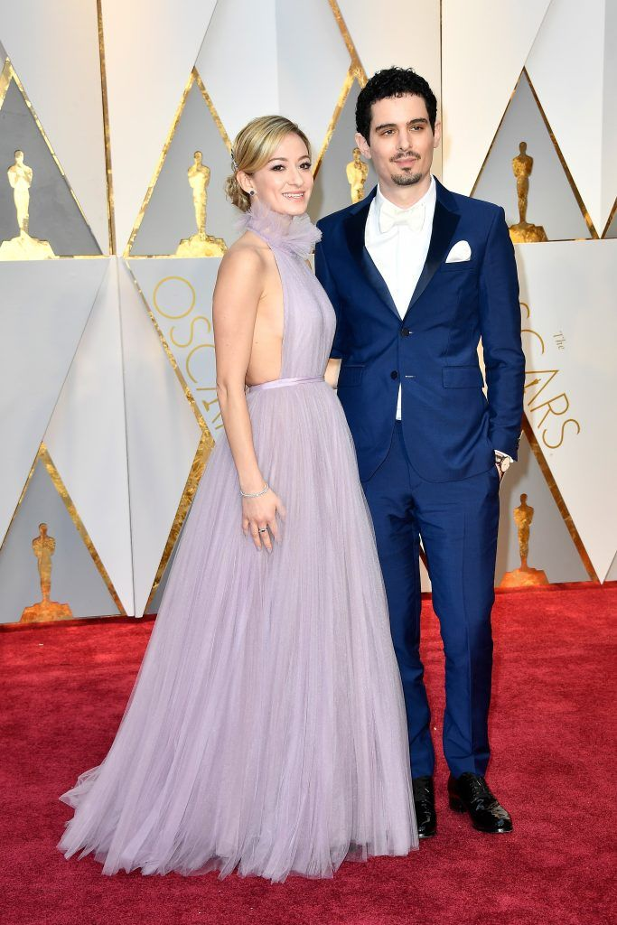 HOLLYWOOD, CA - FEBRUARY 26: Actor Olivia Hamilton (L) and director Damien Chazelle attend the 89th Annual Academy Awards at Hollywood & Highland Center on February 26, 2017 in Hollywood, California.  (Photo by Frazer Harrison/Getty Images)