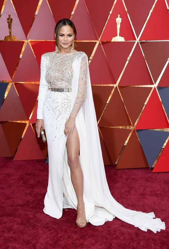 HOLLYWOOD, CA - FEBRUARY 26:  TV personality Chrissy Teigen  attends the 89th Annual Academy Awards at Hollywood & Highland Center on February 26, 2017 in Hollywood, California.  (Photo by Kevork Djansezian/Getty Images)