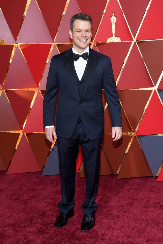 HOLLYWOOD, CA - FEBRUARY 26:  Actor/producer Matt Damon attends the 89th Annual Academy Awards at Hollywood & Highland Center on February 26, 2017 in Hollywood, California.  (Photo by Kevork Djansezian/Getty Images)