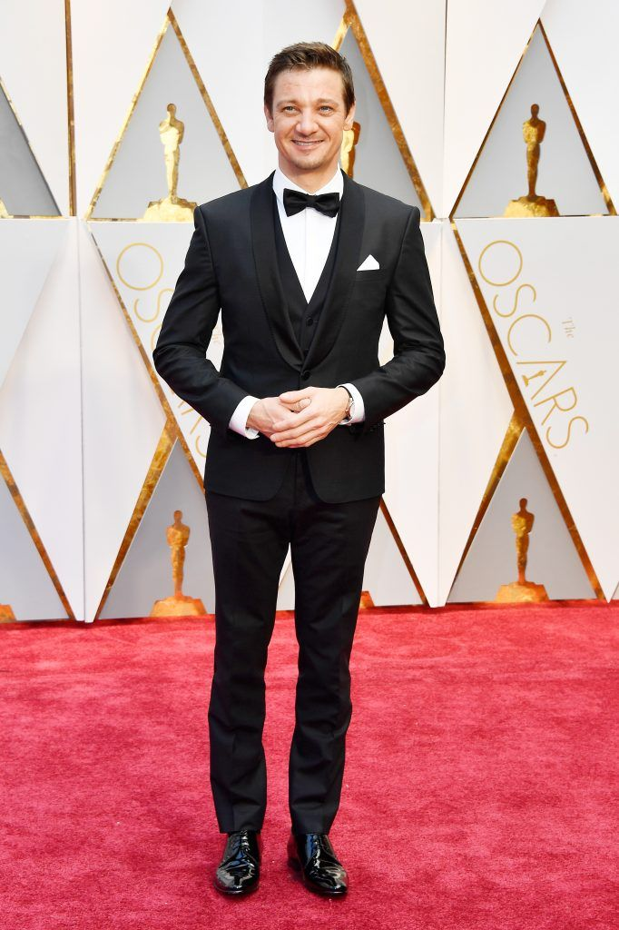 HOLLYWOOD, CA - FEBRUARY 26:  Actor Jeremy Renner attends the 89th Annual Academy Awards at Hollywood & Highland Center on February 26, 2017 in Hollywood, California.  (Photo by Frazer Harrison/Getty Images)