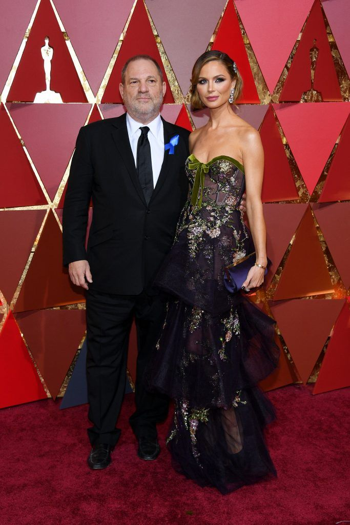HOLLYWOOD, CA - FEBRUARY 26:  Producer Harvey Weinstein (L) and designer Georgina Chapman attend the 89th Annual Academy Awards at Hollywood & Highland Center on February 26, 2017 in Hollywood, California.  (Photo by Kevork Djansezian/Getty Images)