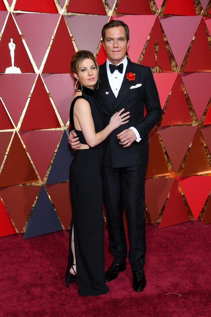 HOLLYWOOD, CA - FEBRUARY 26: Kate Arrington and Michael Shannon attend the 89th Annual Academy Awards at Hollywood & Highland Center on February 26, 2017 in Hollywood, California.  (Photo by Kevork Djansezian/Getty Images)