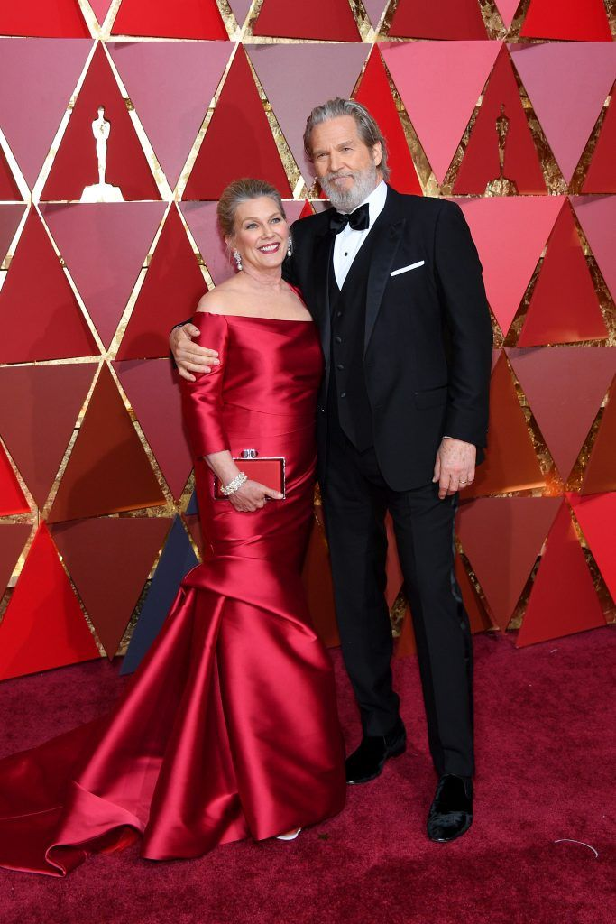 HOLLYWOOD, CA - FEBRUARY 26:  Actor Jeff Bridges (R) and Susan Bridges attend the 89th Annual Academy Awards at Hollywood & Highland Center on February 26, 2017 in Hollywood, California.  (Photo by Kevork Djansezian/Getty Images)