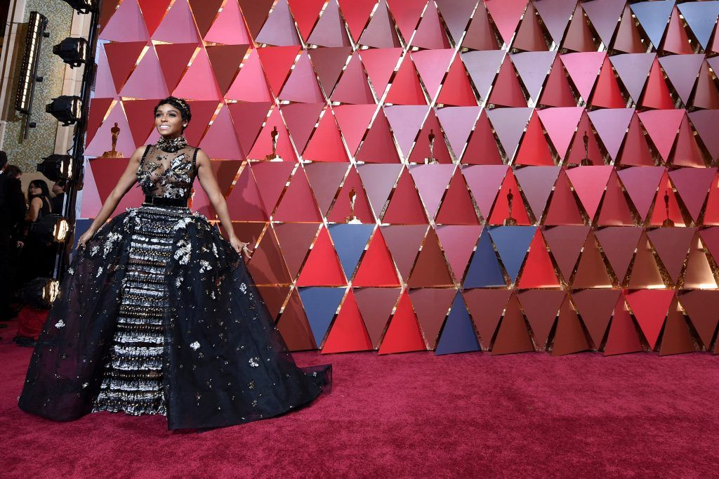 HOLLYWOOD, CA - FEBRUARY 26:  Actor Janelle Monae attends the 89th Annual Academy Awards at Hollywood & Highland Center on February 26, 2017 in Hollywood, California.  (Photo by Kevork Djansezian/Getty Images)