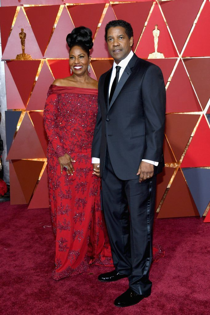 HOLLYWOOD, CA - FEBRUARY 26:  Actors Pauletta Washington and Denzel Washington attend the 89th Annual Academy Awards at Hollywood & Highland Center on February 26, 2017 in Hollywood, California.  (Photo by Kevork Djansezian/Getty Images)