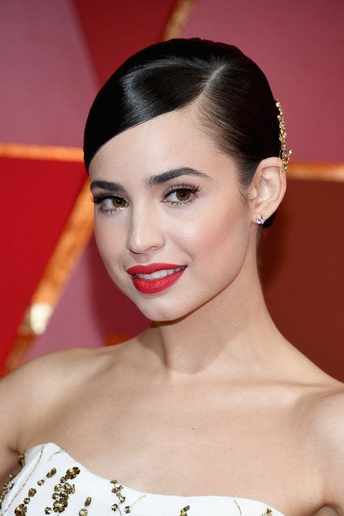 HOLLYWOOD, CA - FEBRUARY 26:  Actor Sofia Carson attends the 89th Annual Academy Awards at Hollywood & Highland Center on February 26, 2017 in Hollywood, California.  (Photo by Kevork Djansezian/Getty Images)