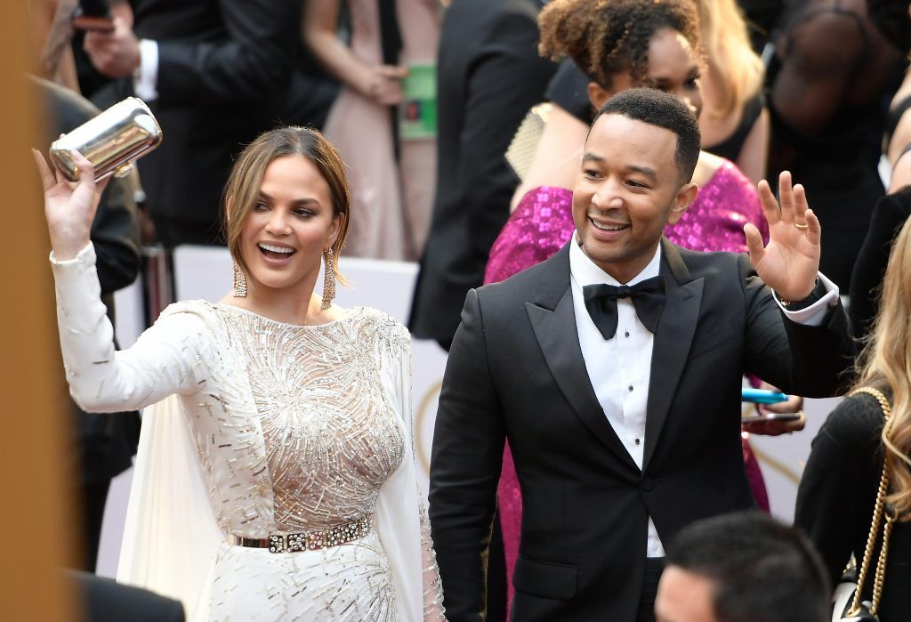 HOLLYWOOD, CA - FEBRUARY 26: Actor Chrissy Teigan and Musician John Legend attends the 89th Annual Academy Awards at Hollywood & Highland Center on February 26, 2017 in Hollywood, California.  (Photo by Matt Winkelmeyer/Getty Images)