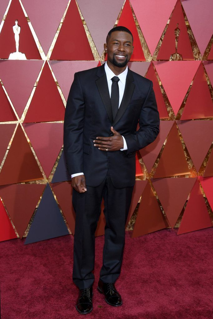 HOLLYWOOD, CA - FEBRUARY 26:  Actor Trevante Rhodes attends the 89th Annual Academy Awards at Hollywood & Highland Center on February 26, 2017 in Hollywood, California.  (Photo by Kevork Djansezian/Getty Images)