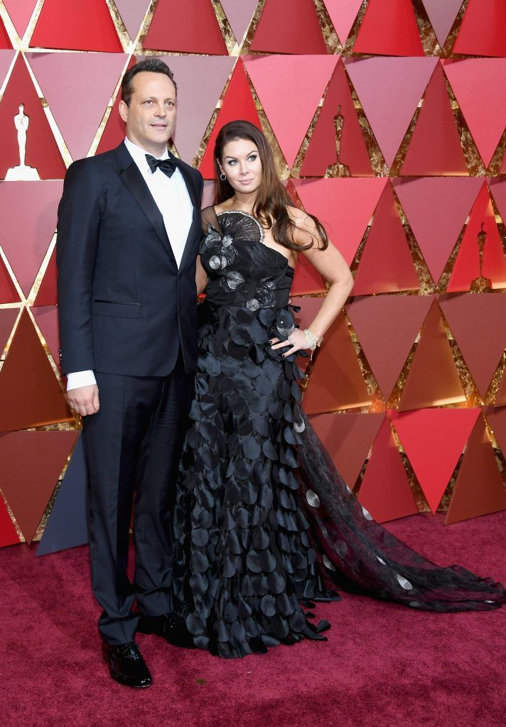 HOLLYWOOD, CA - FEBRUARY 26:  Actor Vince Vaughn (L) and Kyla Weber attend the 89th Annual Academy Awards at Hollywood & Highland Center on February 26, 2017 in Hollywood, California.  (Photo by Kevork Djansezian/Getty Images)