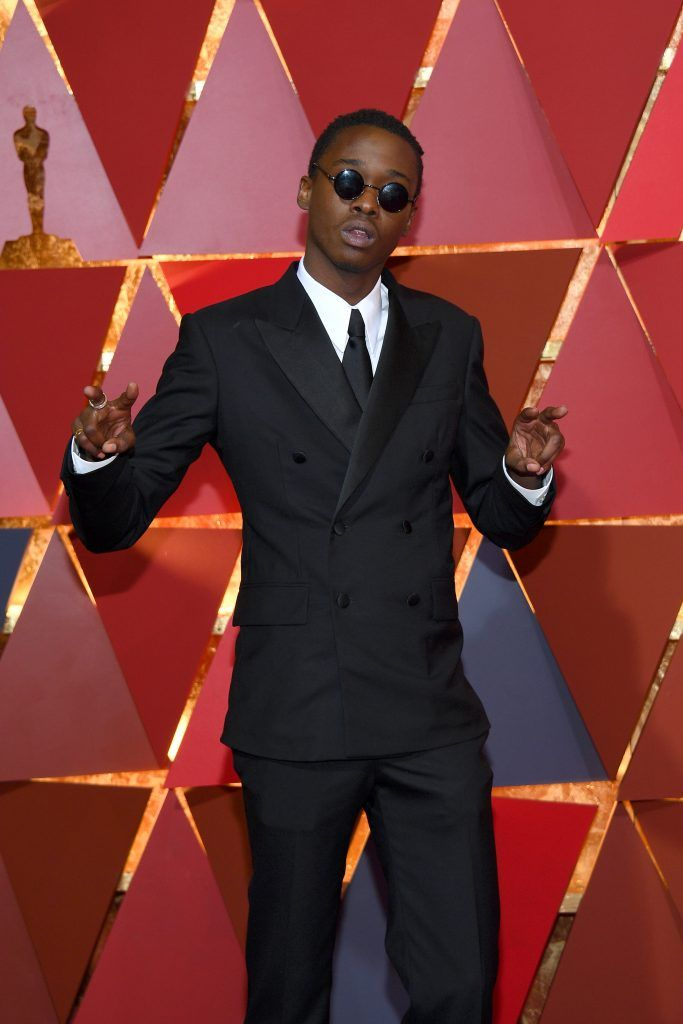 HOLLYWOOD, CA - FEBRUARY 26:  Actor Ashton Sanders attends the 89th Annual Academy Awards at Hollywood & Highland Center on February 26, 2017 in Hollywood, California.  (Photo by Kevork Djansezian/Getty Images)