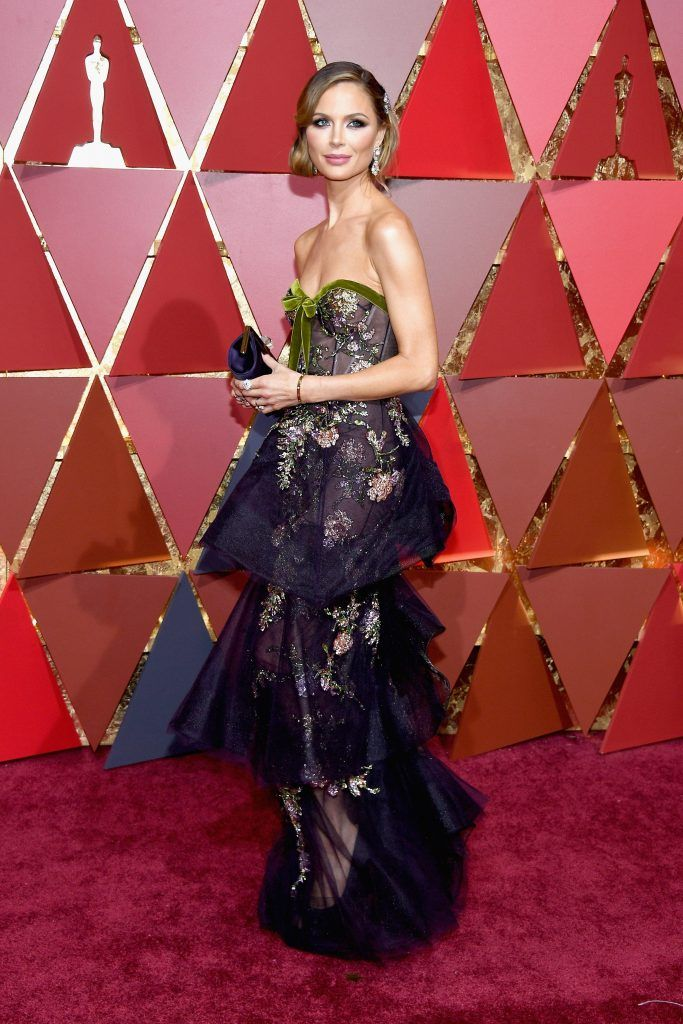 HOLLYWOOD, CA - FEBRUARY 26:  Fashion Designer Georgina Chapman attends the 89th Annual Academy Awards at Hollywood & Highland Center on February 26, 2017 in Hollywood, California.  (Photo by Kevork Djansezian/Getty Images)