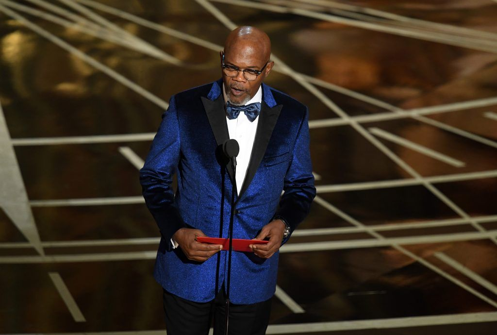 HOLLYWOOD, CA - FEBRUARY 26:  Actor Samuel L. Jackson speaks onstage during the 89th Annual Academy Awards at Hollywood & Highland Center on February 26, 2017 in Hollywood, California.  (Photo by Kevin Winter/Getty Images)