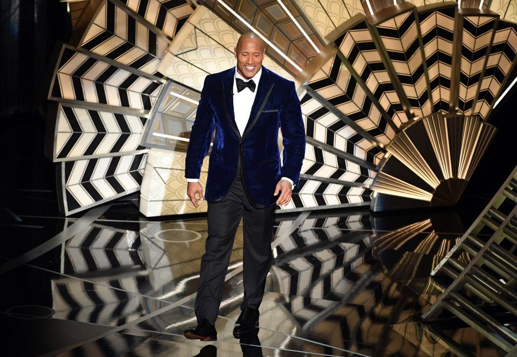 HOLLYWOOD, CA - FEBRUARY 26:  Actor Dwayne Johnson speaks onstage during the 89th Annual Academy Awards at Hollywood & Highland Center on February 26, 2017 in Hollywood, California.  (Photo by Kevin Winter/Getty Images)