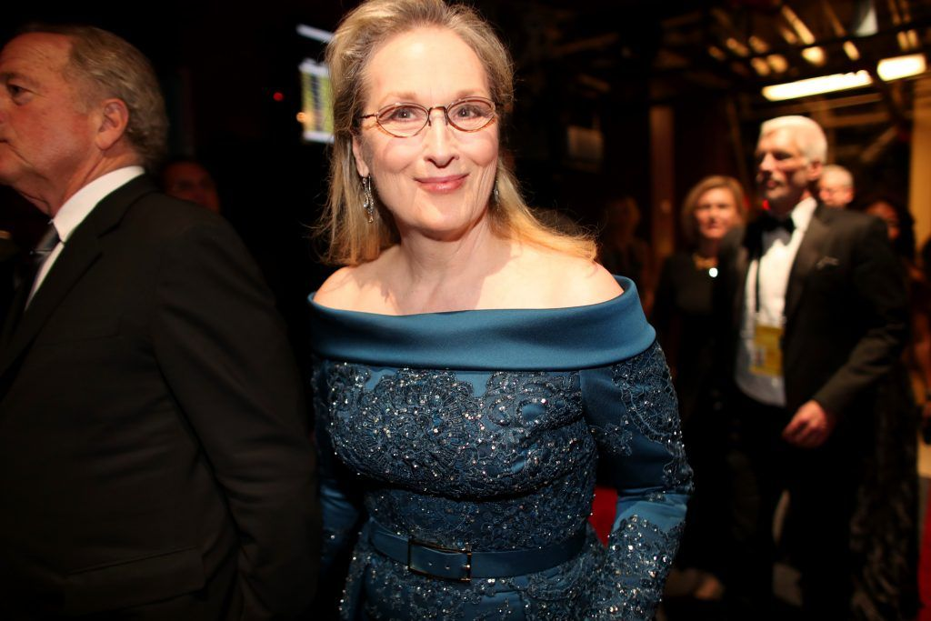 HOLLYWOOD, CA - FEBRUARY 26:  Actor Meryl Streep backstage during the 89th Annual Academy Awards at Hollywood & Highland Center on February 26, 2017 in Hollywood, California.  (Photo by Christopher Polk/Getty Images)