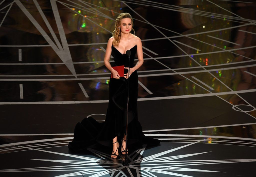 HOLLYWOOD, CA - FEBRUARY 26:  Actor Brie Larson speaks onstage during the 89th Annual Academy Awards at Hollywood & Highland Center on February 26, 2017 in Hollywood, California.  (Photo by Kevin Winter/Getty Images)