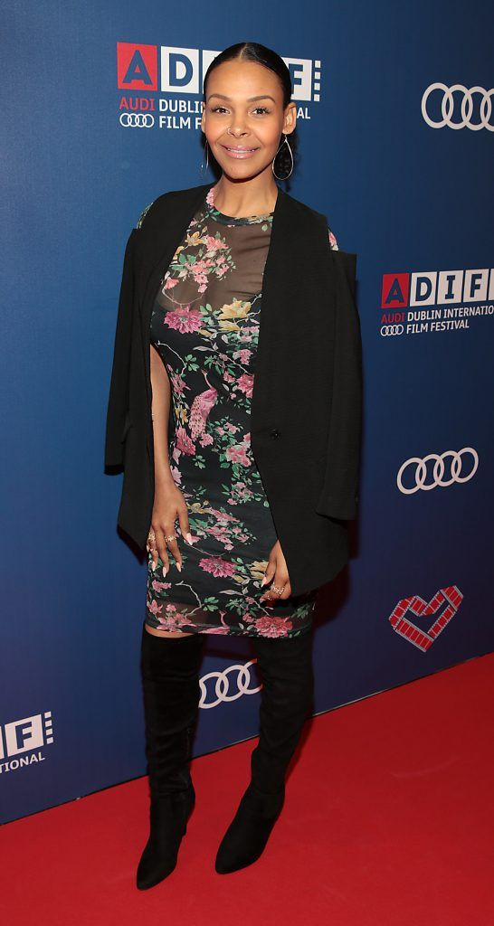 Samantha Mumba at the Audi Dublin International Film Festival closing night gala screening of Handsome Devil at The Savoy Cinema in Dublin (Picture: Brian McEvoy).