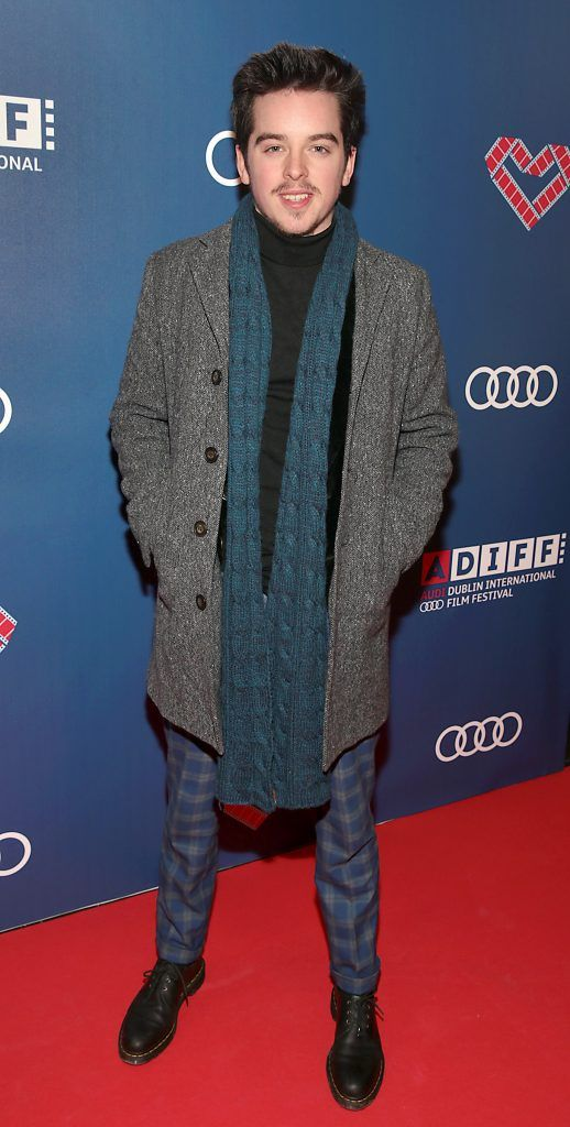 Ferdia Walsh-Peelo at the Audi Dublin International Film Festival closing night gala screening of Handsome Devil at The Savoy Cinema in Dublin (Picture: Brian McEvoy).