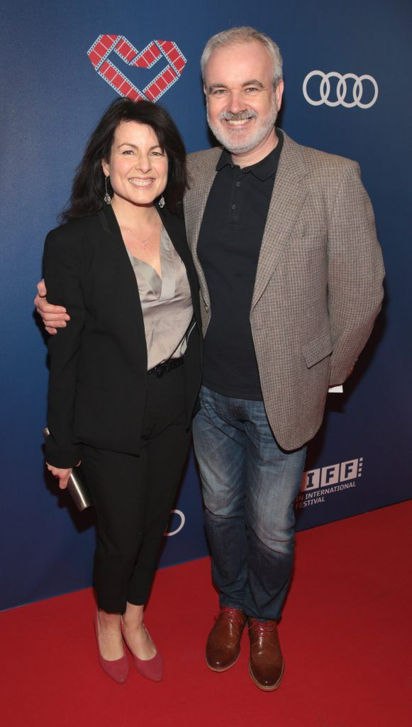 Tara Flynn and Colm O Gorman at the Audi Dublin International Film Festival closing night gala screening of Handsome Devil at The Savoy Cinema in Dublin (Picture: Brian McEvoy).