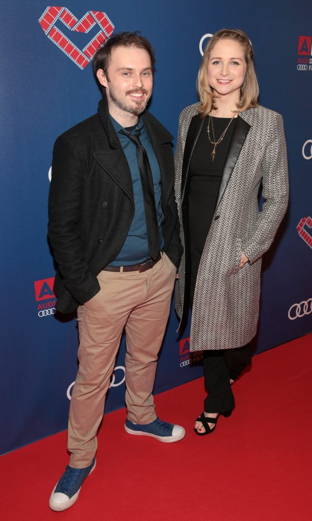 Vincent Gallagher and Niamh Algar at the Audi Dublin International Film Festival closing night gala screening of Handsome Devil at The Savoy Cinema in Dublin (Picture: Brian McEvoy).