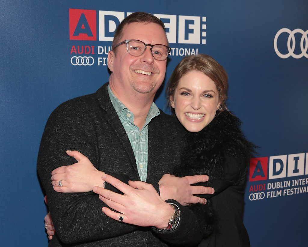 Director John Butler and Amy Huberman at the Audi Dublin International Film Festival closing night gala screening of Handsome Devil at The Savoy Cinema in Dublin (Picture: Brian McEvoy).