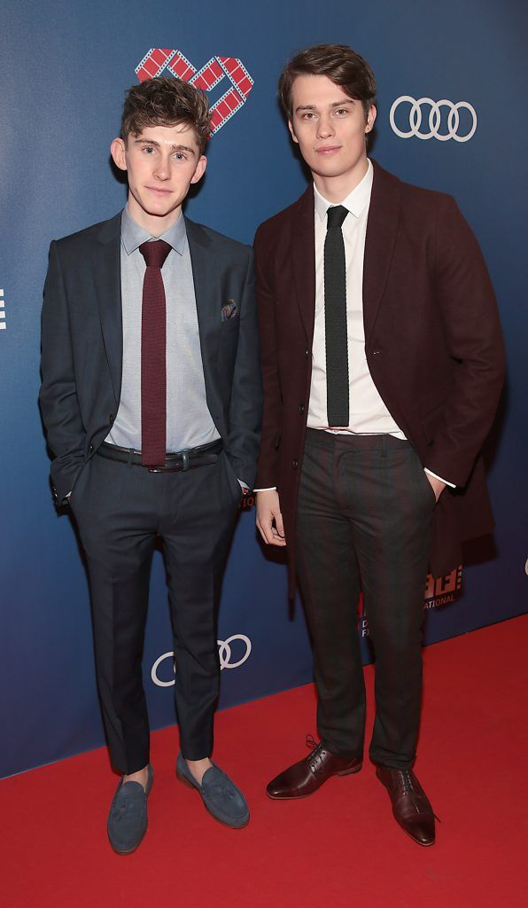 Actors Fionn O Shea and Nick Galitzine at the Audi Dublin International Film Festival closing night gala screening of Handsome Devil at The Savoy Cinema in Dublin (Picture: Brian McEvoy).