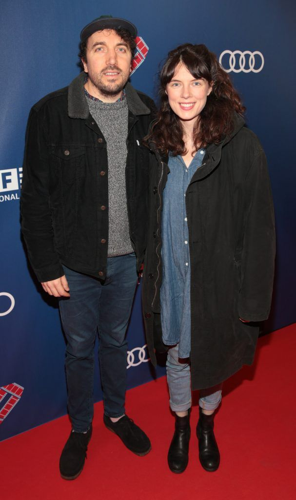 David Kitt and Margie Lewis at the Audi Dublin International Film Festival closing night gala screening of Handsome Devil at The Savoy Cinema in Dublin (Picture: Brian McEvoy).