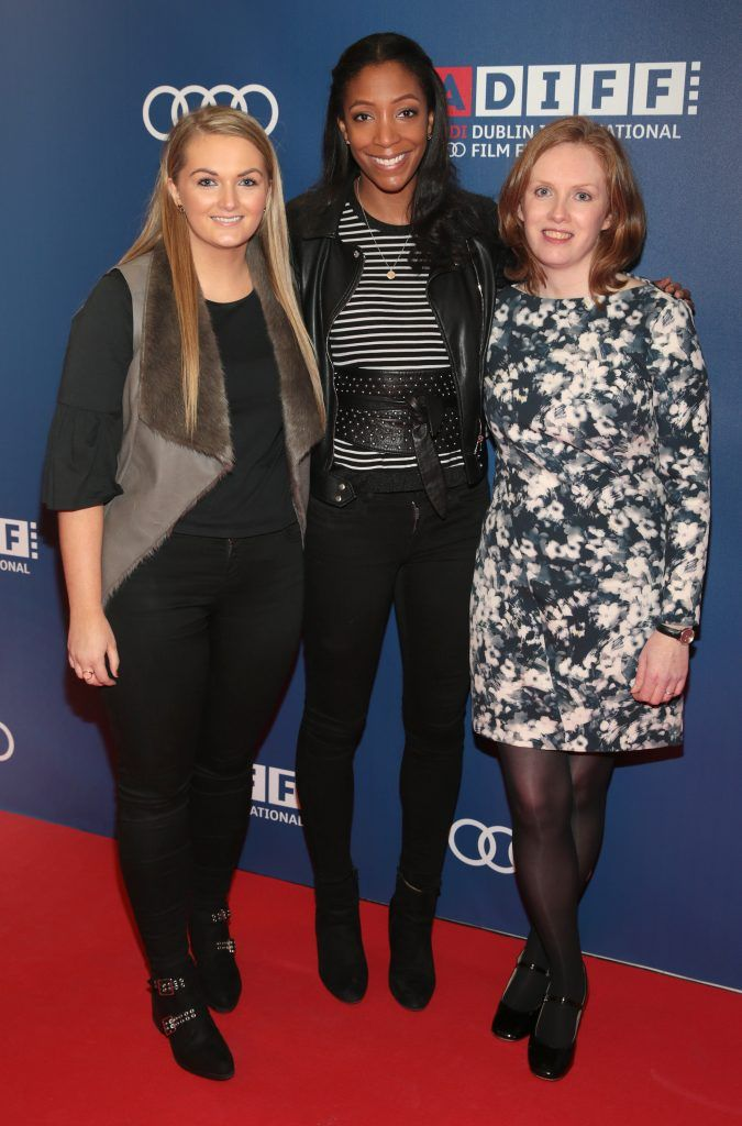 Leslie Walsh, Shireen McDonagh and Sarah Sharkey at the Audi Dublin International Film Festival closing night gala screening of Handsome Devil at The Savoy Cinema in Dublin (Picture: Brian McEvoy).