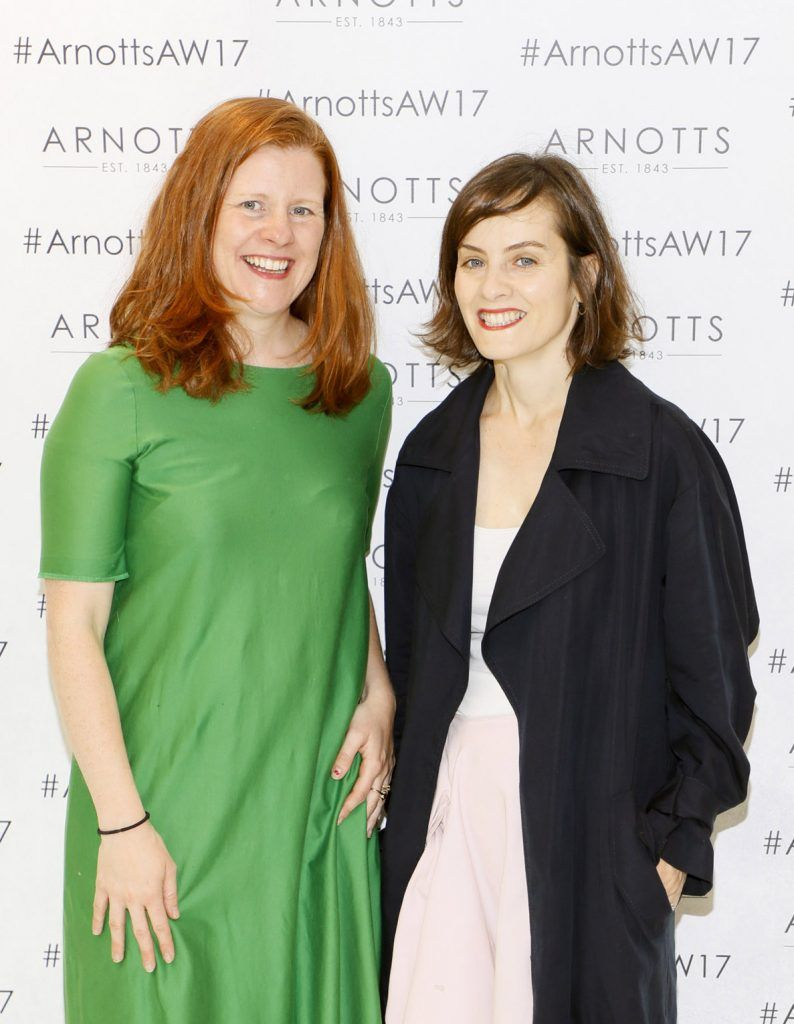 Ciara NicChornaic and Aisling Farinella at the Arnotts Autumn Winter 2017 Womenswear Collection Preview. Photo by Kieran Harnett