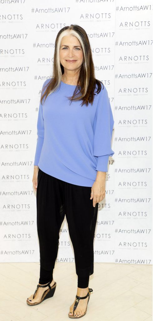 Cathy O'Connor at the Arnotts Autumn Winter 2017 Womenswear Collection Preview. Photo by Kieran Harnett