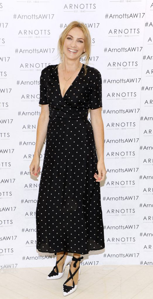 Ingrid Hoey at the Arnotts Autumn Winter 2017 Womenswear Collection Preview. Photo by Kieran Harnett