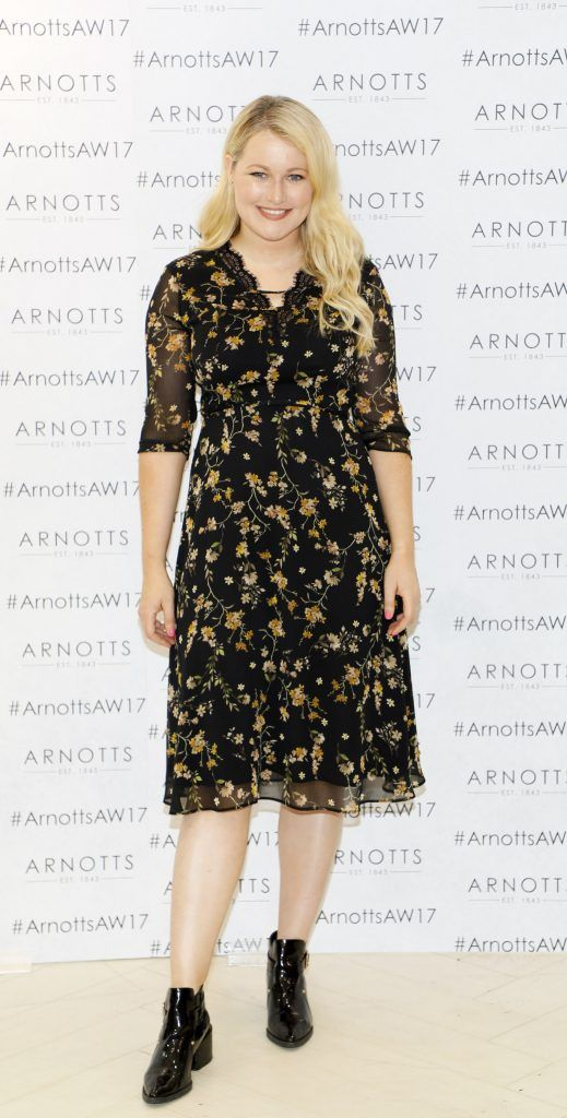 Lorna Weightman at the Arnotts Autumn Winter 2017 Womenswear Collection Preview. Photo by Kieran Harnett