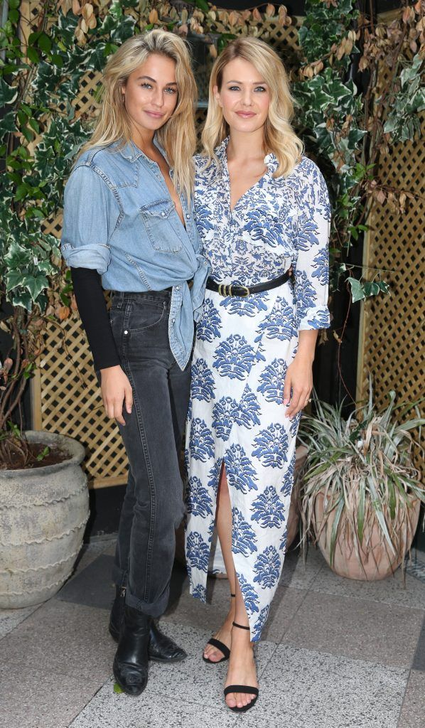 Thalia Hefferenan and Aoibhin Garrihy pictured at the launch of Inglot's new 'Signature Collection' of eyeshadow palettes in Nolita's garden terrace. Photograph: Leon Farrell / Photocall Ireland