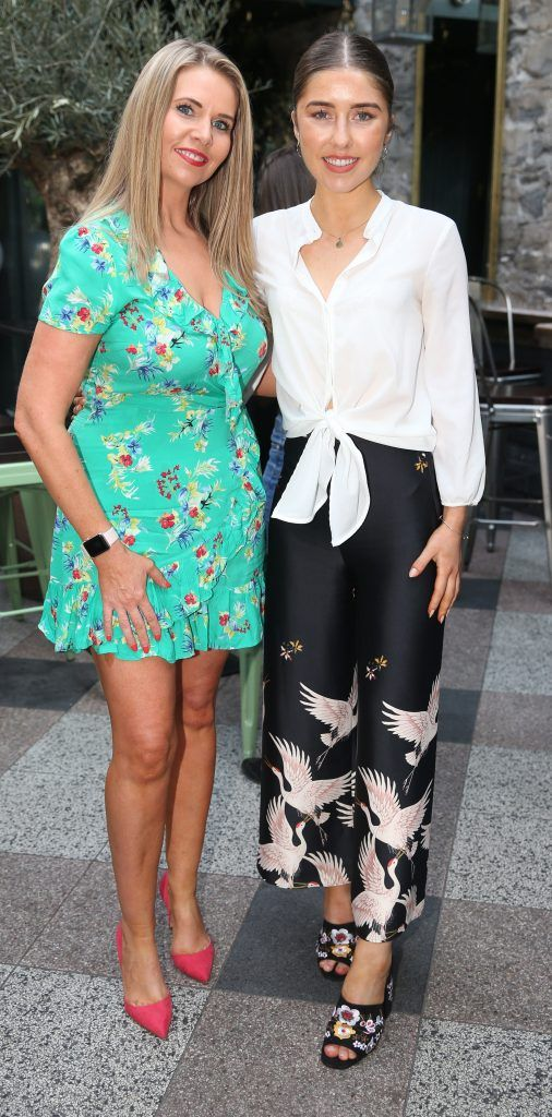 Erica Bracken and Jules Mahon pictured at the launch of Inglot's new 'Signature Collection' of eyeshadow palettes in Nolita's garden terrace. Photograph: Leon Farrell / Photocall Ireland