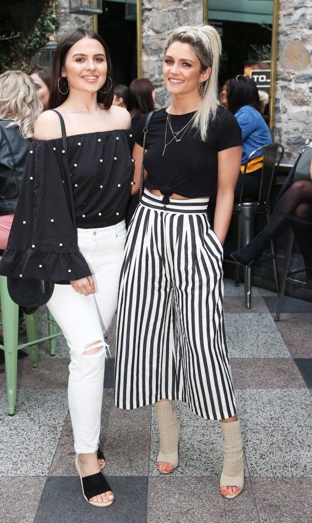 Aideen Murphy and Niamh Cullen pictured at the launch of Inglot's new 'Signature Collection' of eyeshadow palettes in Nolita's garden terrace. Photograph: Leon Farrell / Photocall Ireland