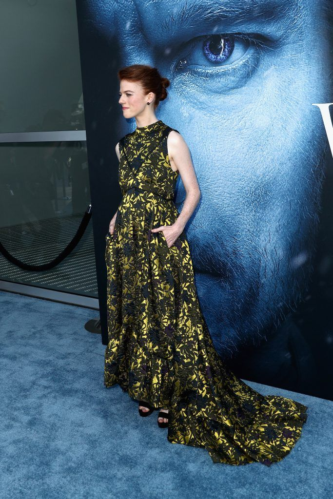 """Actor Rose Leslie attends the premiere of HBO's """"Game Of Thrones"""" season 7 at Walt Disney Concert Hall on July 12, 2017 in Los Angeles, California.  (Photo by Frederick M. Brown/Getty Images)"""