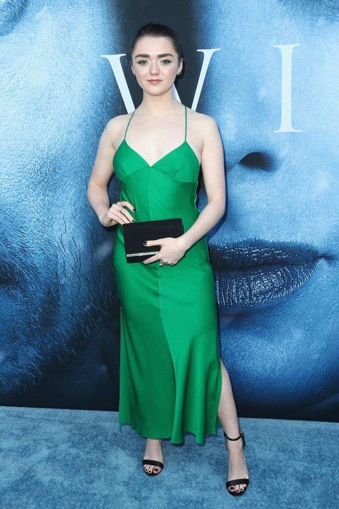 """Actor Maisie Williams attends the premiere of HBO's """"Game Of Thrones"""" season 7 at Walt Disney Concert Hall on July 12, 2017 in Los Angeles, California.  (Photo by Frederick M. Brown/Getty Images)"""
