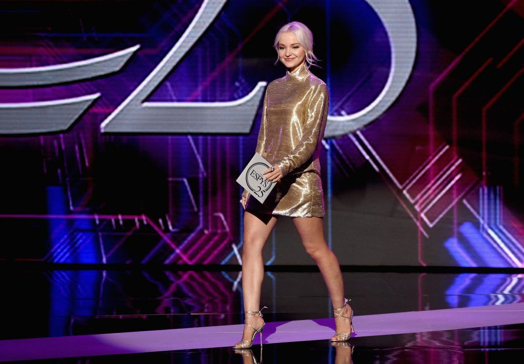 Actress Dove Cameron walks onstage at The 2017 ESPYS at Microsoft Theater on July 12, 2017 in Los Angeles, California.  (Photo by Kevin Winter/Getty Images)
